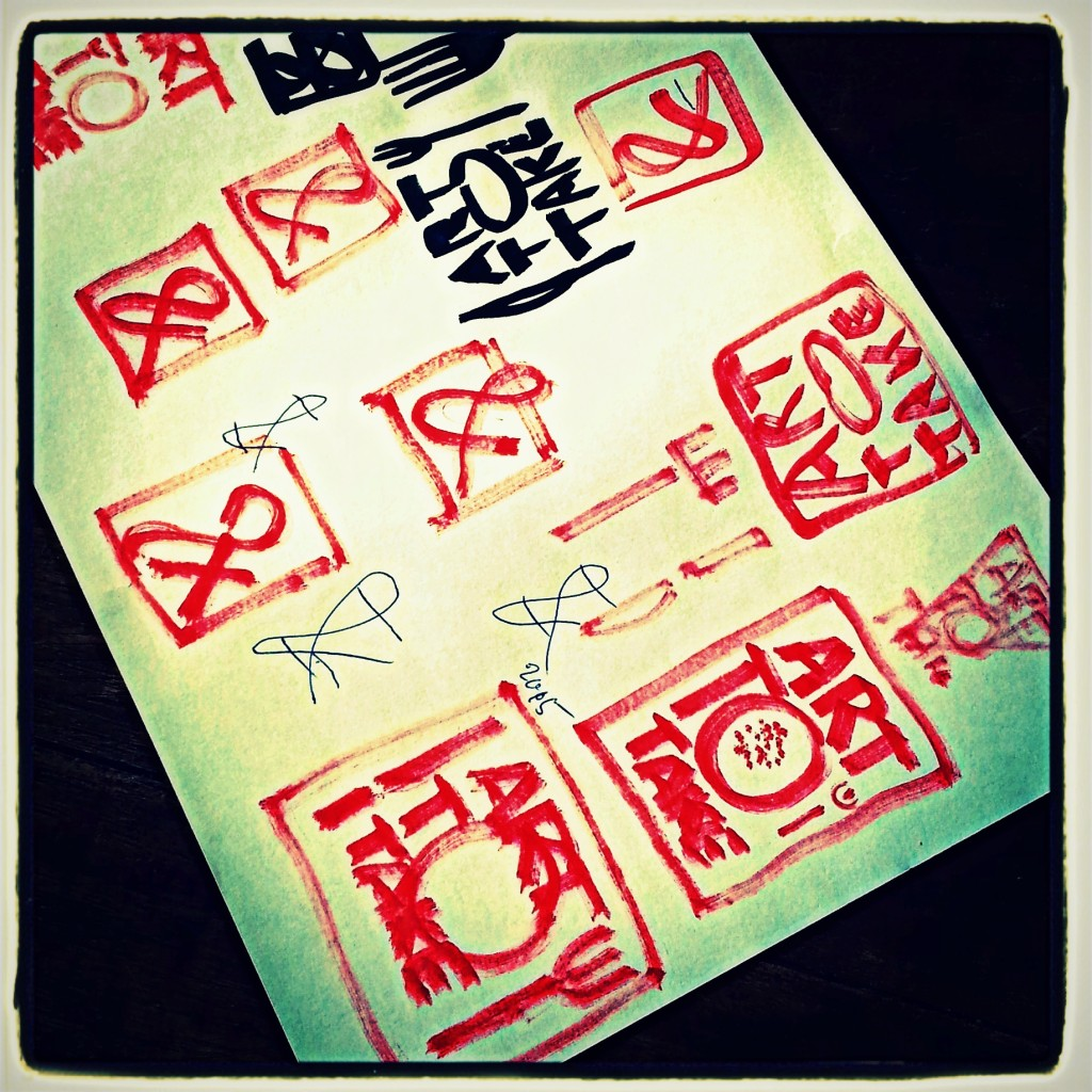 logo schetsen