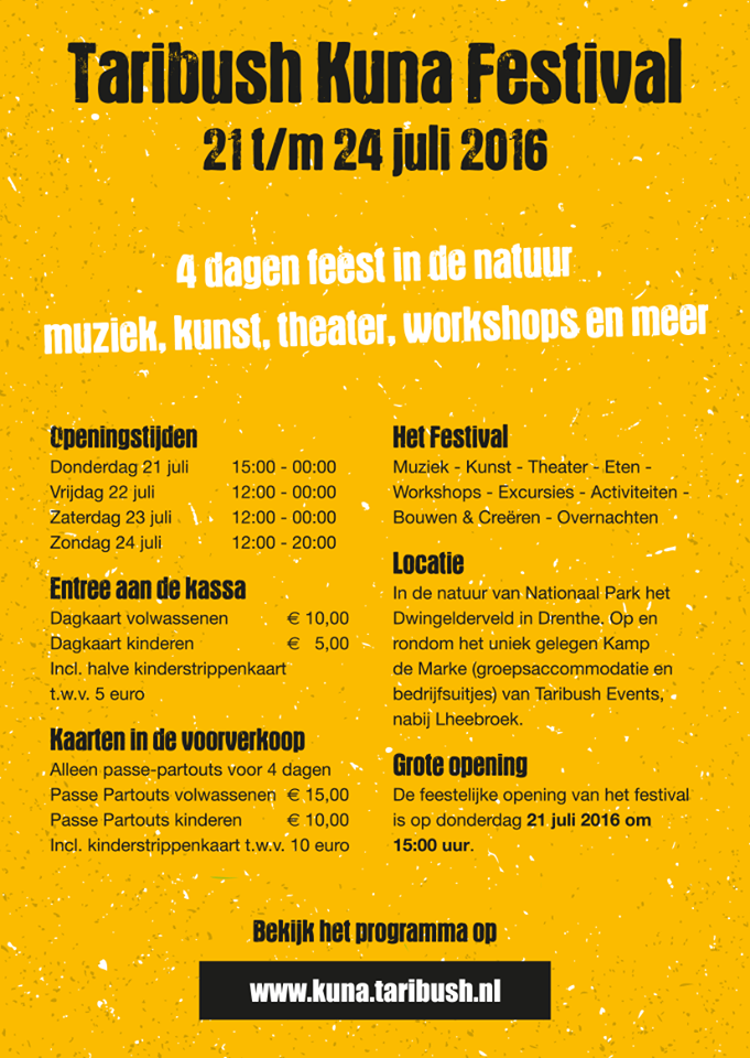 Kuna Festival poster achter